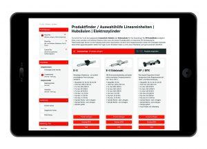 Online-Produktfinder mit Zusatzfunktionen